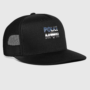 Police Mom Love Law Enforcement Officer - Trucker Cap