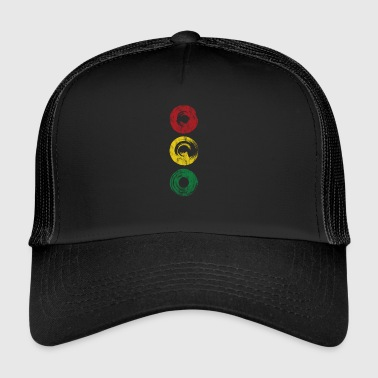 Traffic light traffic gift kids colors colorful car - Trucker Cap