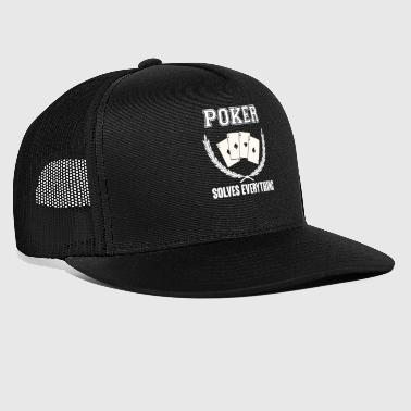 Poker - Poker - Card Game - Card - Solution - Trucker Cap