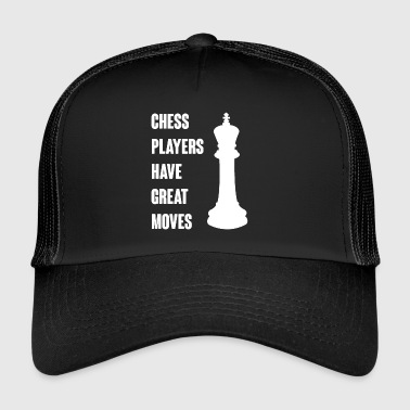 Chess - Chess set - Chess pieces - King - Trucker Cap