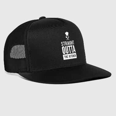 Straight Outta the Kitchen Funny Cool T-Shirt - Trucker Cap