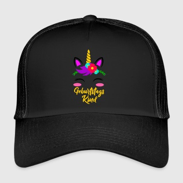 Birthday Girl Unicorn Birthday Gift - Gorra de camionero