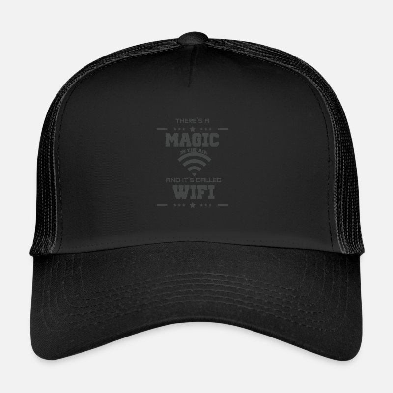 Nerd Caps & Hats - Nerd - Trucker Cap black/black