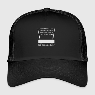 Modem Sound Old School Funny Computer Internet - Trucker Cap