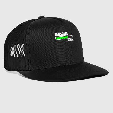 Installing Muscles Funny Gym - Trucker Cap