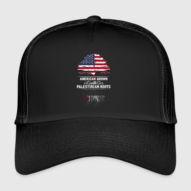 American grown with Palestinian roots - Trucker Cap