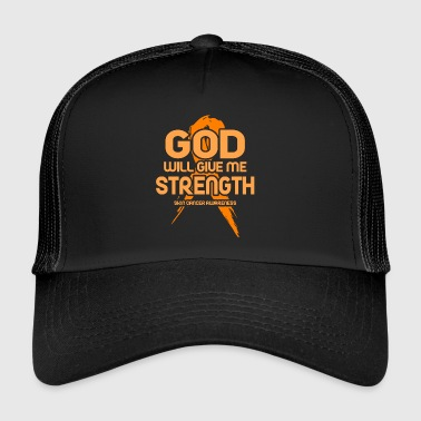 Skinhead Skin Cancer God will give me Strength! Awareness - Trucker Cap