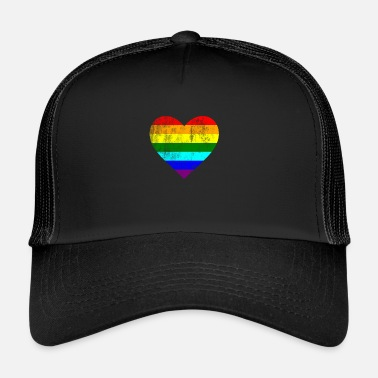 Gay Coeur LGTB Pride gay gay arc-en-ciel - Trucker Cap