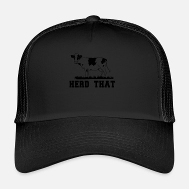 Cow Girl Farmer Cow cowboy Cow Girl Western Herd idée cadeau - Trucker Cap