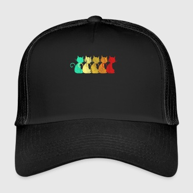 I Love Retro Retro Cat's Cat Lover - Trucker Cap