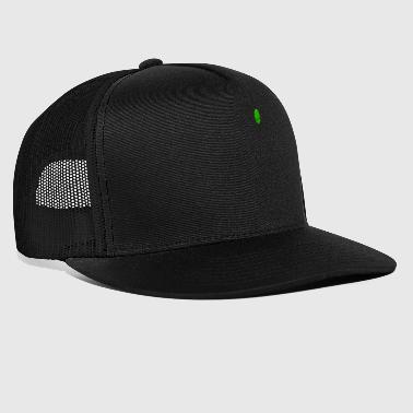 Tee-shirt de poche verte Alien Head Patch Funny Space - Trucker Cap