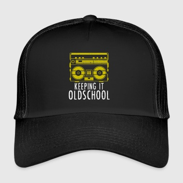 Old School Boombox - Ghettoblaster Music Hip Hop - Trucker Cap