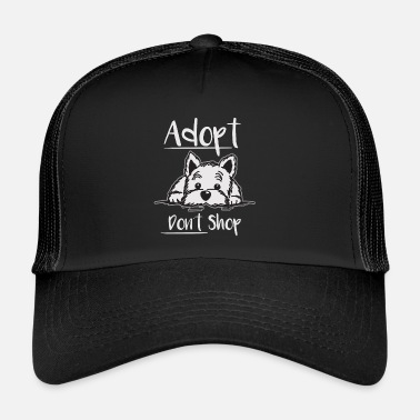 Dog Paw Animal shelter street dog Adopt - Trucker Cap