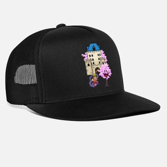 Tryllestav Kasketter & huer - Fantasy Fairies Castle Castle Eventyr fabel troldmand - Trucker cap sort/sort