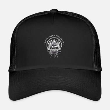 Illuminati Illuminati all seeing eye pyramid secret society - Trucker Cap
