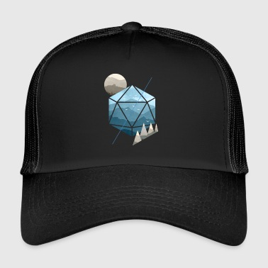 Dungeons And Dragons Dungeons & Dragons (Dnd) Watercolour D20 - Trucker Cap