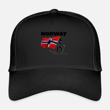 Cross Country Skiing Biathlon with heart in Norway as a gift - Trucker Cap