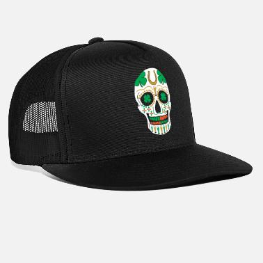 St Patricks Day St. Patricks Day Sugar Skull Shamrock Bier Parade - Trucker Cap