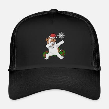 Jack Russel Dabbing Jack Russell Terrieri Joulupukki - Trucker cap bc2f851c1d