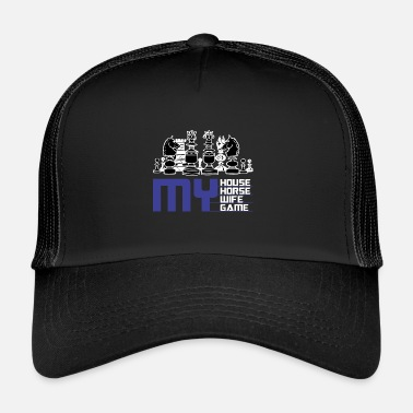 71f3919cb36 Chess House Horse Lady Game Gift Idea - Trucker Cap
