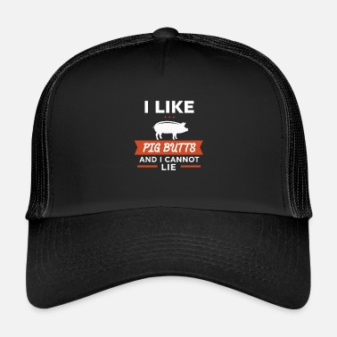 Barbecue Grappig varkensontwerp voor barbecuefeest en barbecue - Trucker Cap