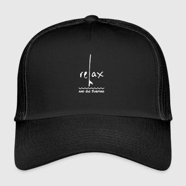 Relax and go surfing - retro surfers shirt - Trucker Cap