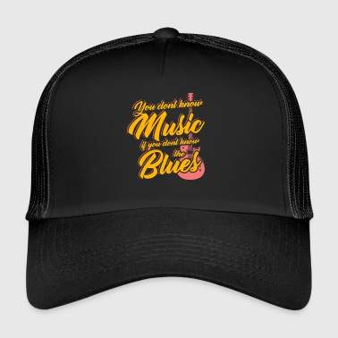 Blues guitare guitariste instrument de musique - Trucker Cap