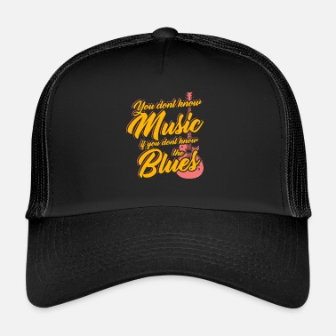 Blues Blues guitare guitariste instrument de musique - Trucker Cap