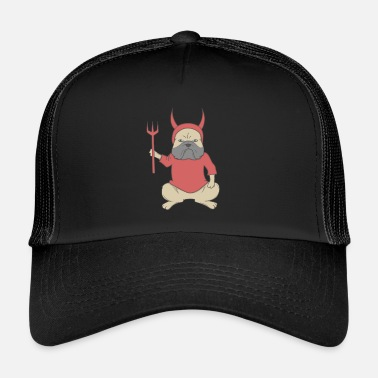 Horn Dog dressed as a devil Halloween - Trucker Cap