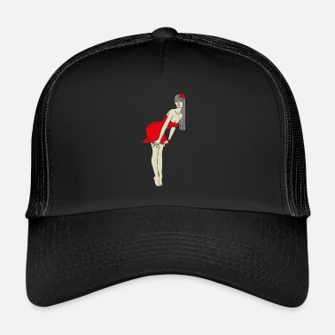 Burlesque PinUp Girl Retro Pin Up Burlesque - Trucker Cap