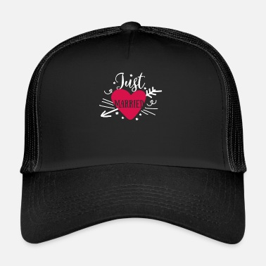 Just Just Married - Just Married Wedding - Trucker Cap
