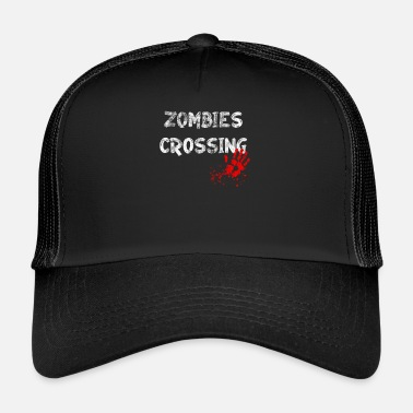 Veritahra Halloween Zombies Crossing Blood lahja - Trucker Cap