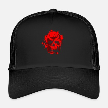 Skull Red Skull Skull Skull Graphic - Trucker Cap