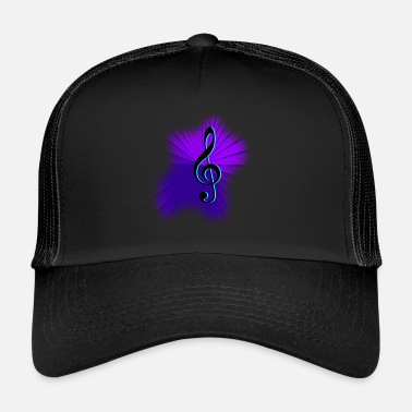 Treble-clef Clef treble clef music - Trucker Cap