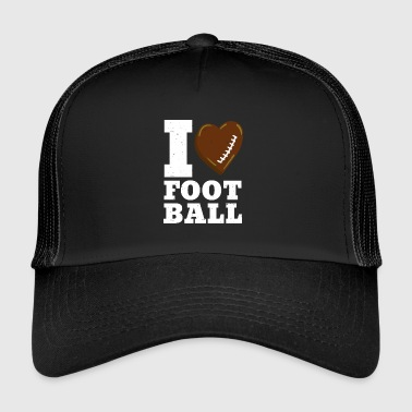 LOVE FOOTBALL American Football Heart - Trucker Cap
