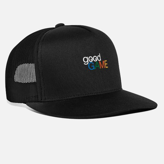 Play Caps & Hats - Good Game Good luck Playing Gambling - Trucker Cap black/black