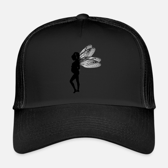 Gift Idea Caps & Hats - Fairy fairy pregnant - Trucker Cap black/black
