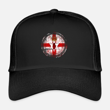 Northern Ireland Northern Ireland Emblem Retro - Trucker Cap
