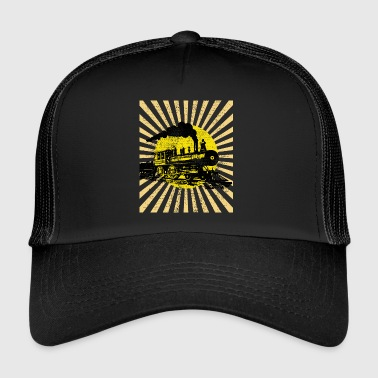steam locomotive - Trucker Cap