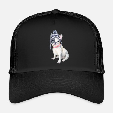 Beanie Frenchie French Bulldog Toque Beanie beads Dogs In Clothes - Trucker Cap