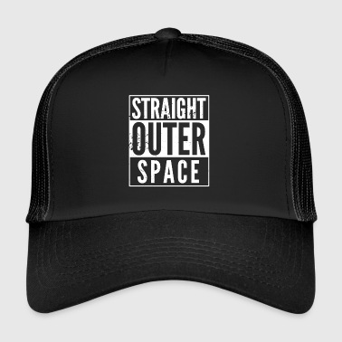 Spoof Straight Outer Space spoof used look - Trucker Cap