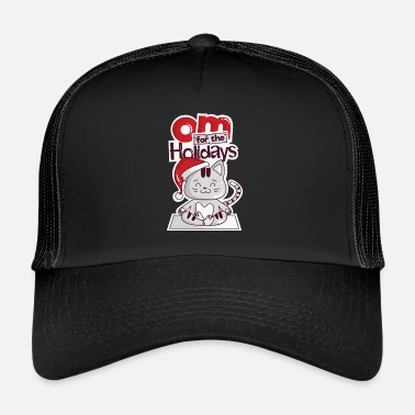 Christmas Cats Christmas Yoga Om Cute Kitti Gift - Trucker Cap