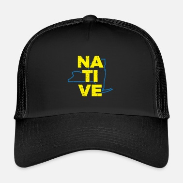 NY New York Native Gift voor Home State Pride - Trucker cap