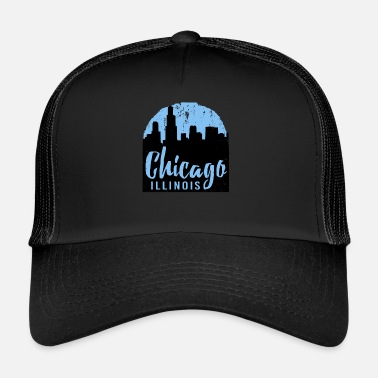 City Chicago America USA Windy City Illinois Gift - Trucker Cap