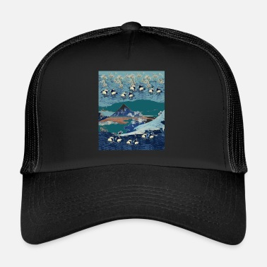 Art hokusai art pattern transparent - Trucker Cap