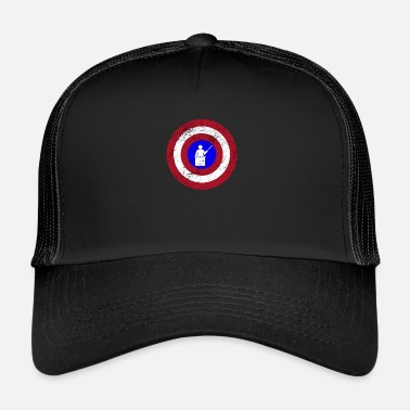 Shield Funny Captain Teacher Superhero Shield Design - Trucker Cap