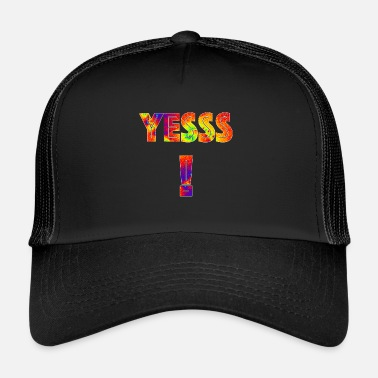 Yes We Can Yess! Art in the word Gift nerd trend style - Trucker Cap