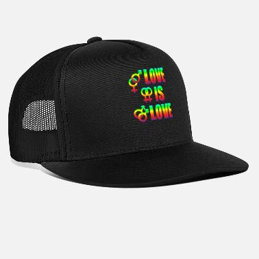 Diverse Love Is Love Homoseksuelle lesbiske Love Freedom - Trucker cap