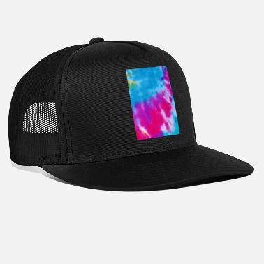 Teenager Gift Abstract Color Pattern Retro Pink Blue - Trucker Cap