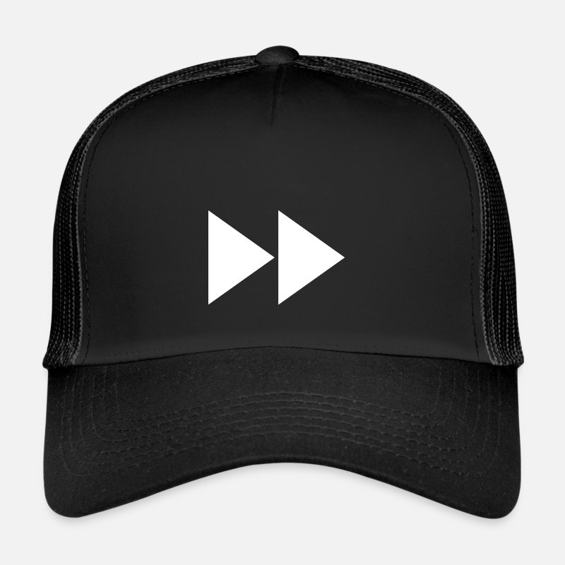 Fast Caps & Hats - Fast forward | Symbol | White | gift idea - Trucker Cap black/black